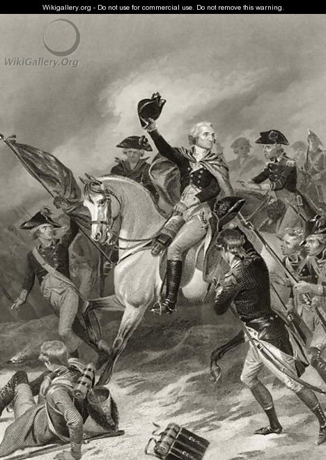George Washington at the Battle of Princeton, January 3rd 1777, from