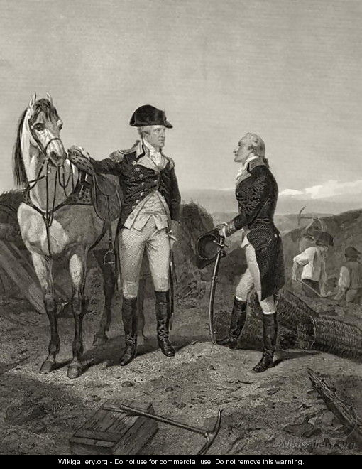 First meeting of George Washington and Alexander Hamilton, from