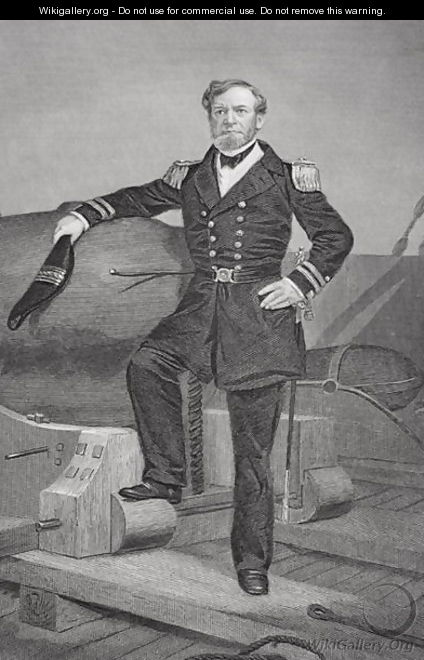 Portrait of Admiral Andrew Hull Foote (1806-63) - Alonzo Chappel