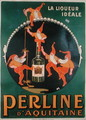 Poster advertising 'Perline d'Aquitaine' French liqueur - Amedee Charles Henri de Noe (Cham)