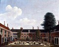The Garden of The Former Amsterdam Leprozenhuis, 1735 - Louis Chalon