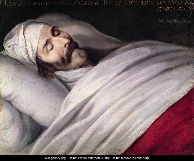 Cardinal Richelieu (1585-1642) on his Deathbed - Philippe de Champaigne