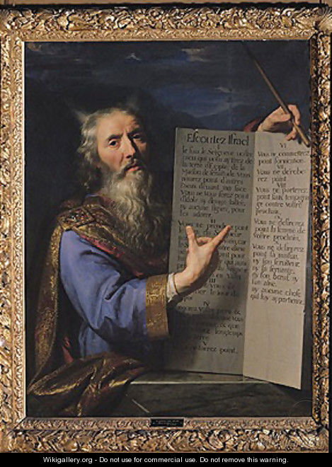 Moses with the Tablets of the Law, 1663 - Philippe de Champaigne