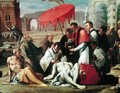 St. Charles Borromeo (1538-84) Administering the Sacrament to Plague Victims in 1576 (detail) - Sigismondo Caula