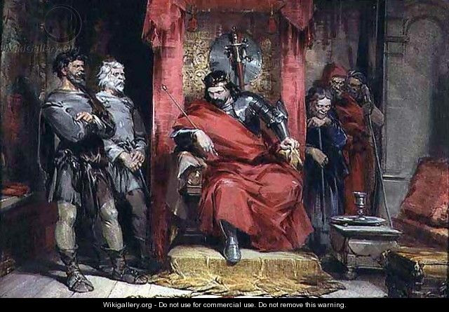 Macbeth instructing the Murderers employed to kill Banquo - George Cattermole
