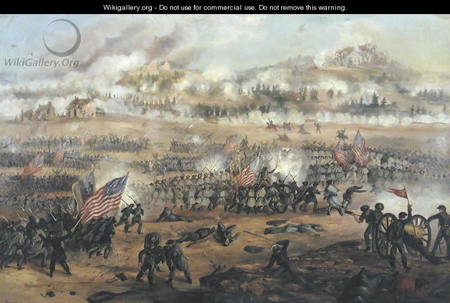 The Battle of Fredericksburg on 13th December 1862 - Frederick Cavada