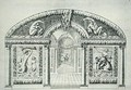 Grotto design from 'The Gardens of Wilton' c.1645 - Isaac de Caus