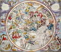 Map of the Christian Constellations as depicted by Julius Schiller, from