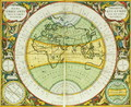 Ancient Hemispheres of the World, plate 94 from 'The Celestial Atlas, or the Harmony of the Universe' - Andreas Cellarius