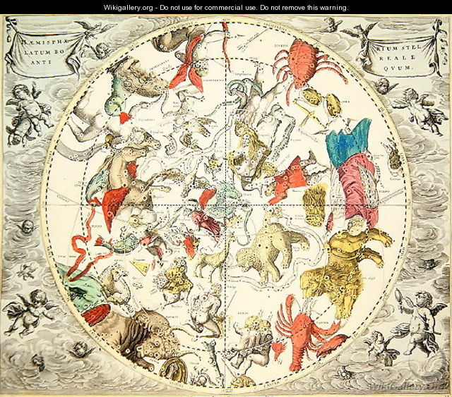 Celestial Planisphere Showing the Signs of the Zodiac, from