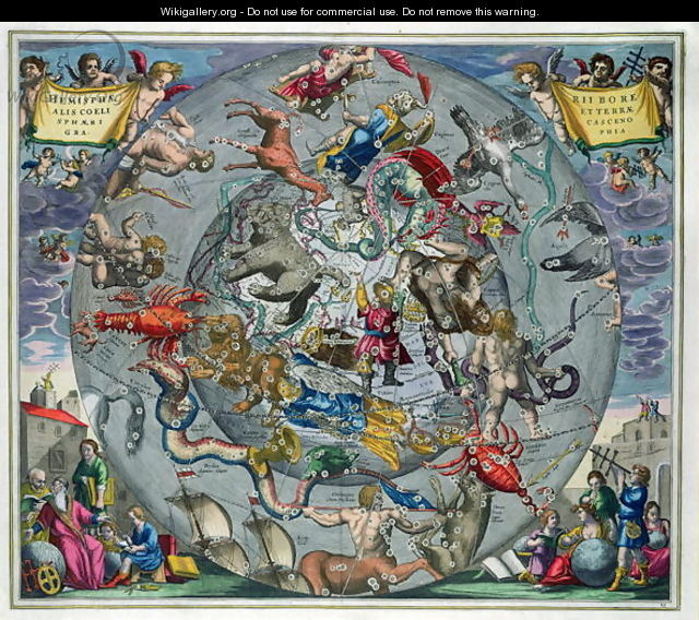 Map of the Constellations of the Northern Hemisphere, from
