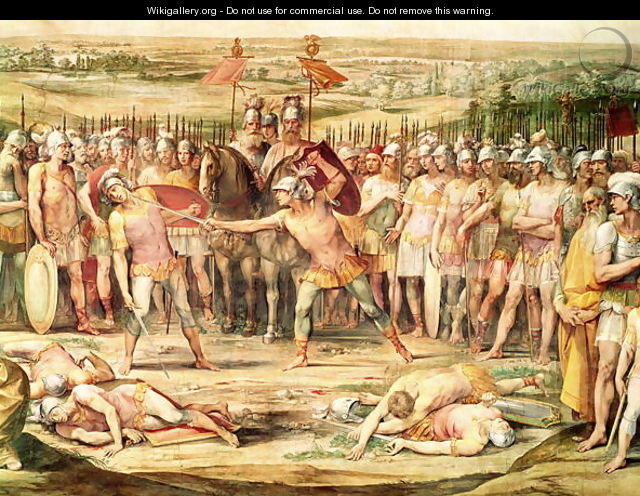 Battle between the Horatii and the Curiatii - Giuseppe (d
