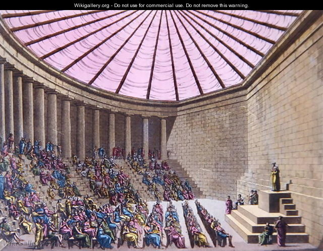 The Odeon in the time of Pericles, illustration from