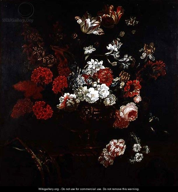 Still Life of Flowers in a Copper Vase - Pauwel Casteels