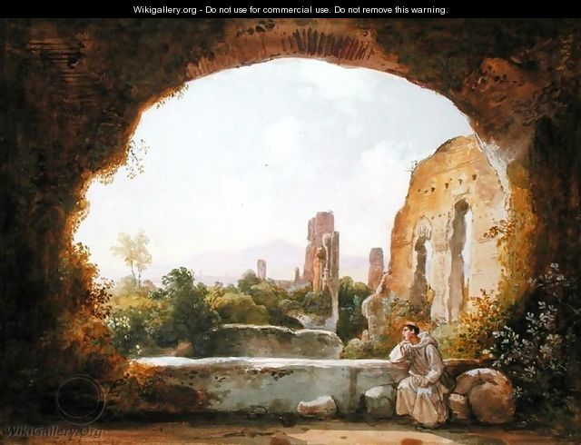 The Grotto of Egeria - Franz Ludwig Catel
