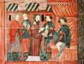 The Magi Before Herod, from the altar frontal of 'The Virgin with Roses', c.1350 - Anonymous Artist