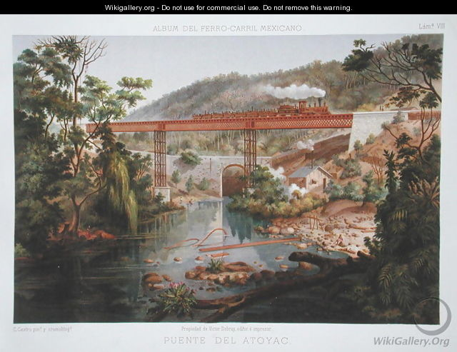 Railway Bridge at Atoyac, from