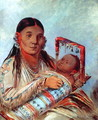 Sioux mother and baby, c.1830 - George Catlin