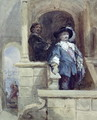 Sir Thomas Wentworth (afterwards Earl of Strafford) and John Pym at Greenwich, 1628 - George Cattermole