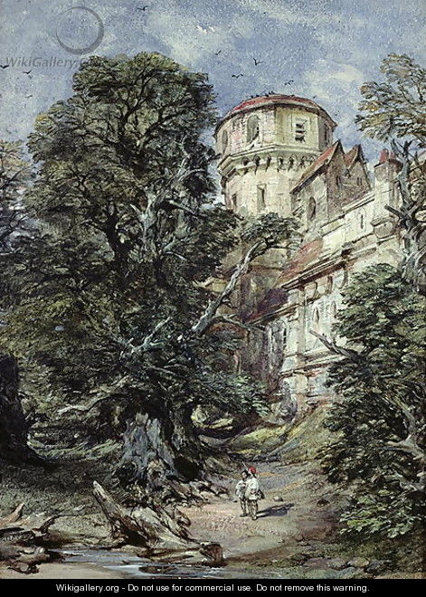 Landscape, with Castle and Trees - George Cattermole