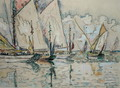 Departure of Three-Masted Boats at Croix-de-Vie - Paul Signac