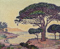 Umbrella Pines at Caroubiers, 1898 - Paul Signac