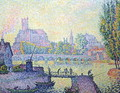 View of the bridge of Auxerre, 1902 - Paul Signac