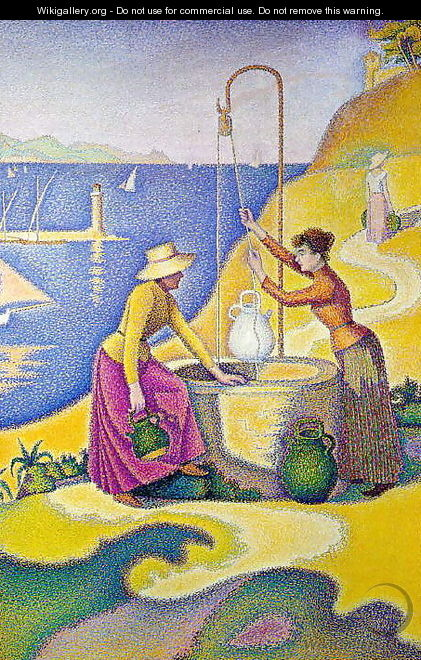 Young women of Provence at the well, 1892 - Paul Signac