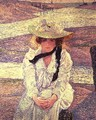 Young Woman on the Banks of the Greve River, 1901 - Theo van Rysselberghe