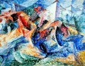 Horse and Rider and Buildings, 1914 - Umberto Boccioni