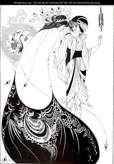 The Peacock Skirt, illustration for the English edition of `Salome