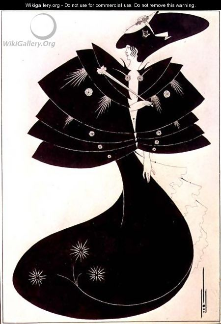 The Black Cape, illustration for the English edition of Oscar Wilde