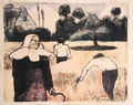 The Harvester, from the series 'Les Brettoneries', 1889 - Emile Bernard