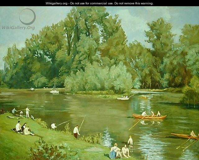 On the Shore of the Marne, c.1932 - Emile Bernard
