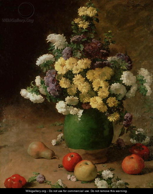 Flowers and Fruit, 1880 - Claude Emile Schuffenecker