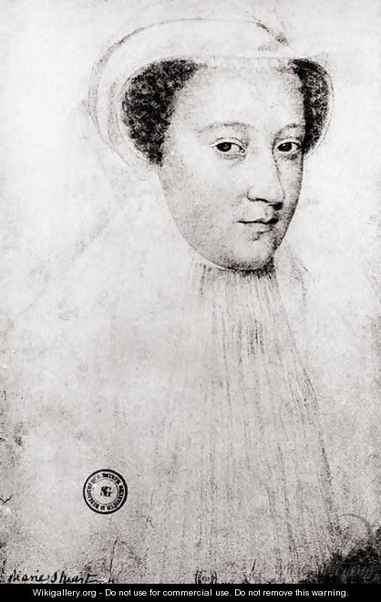 Mary, Queen of Scots (1542-87) in white mourning, 1560 - (after) Clouet, Francois