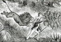 Livingstone Attacked by a Lion - (after) Cobner, J.M.
