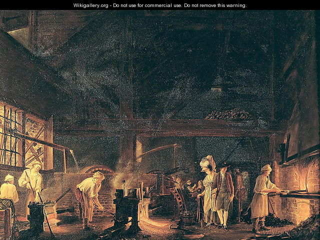 Interior of a Forge, 1771 - Jean Baptiste Bernard Coclers