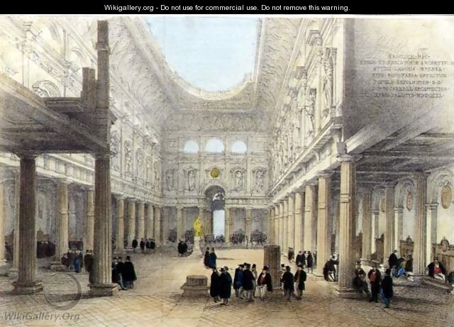 Design for the Royal Exchange-interior, looking west, 1840 - Charles Robert Cockerell