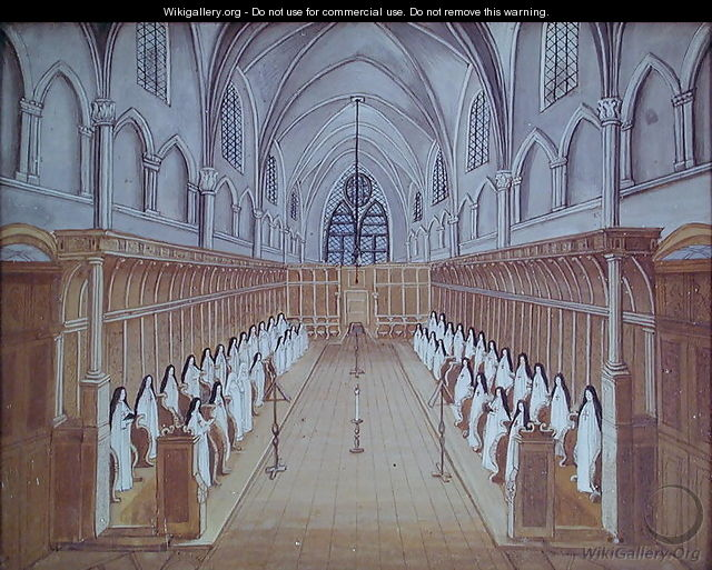 View Of The Choir From L Abbaye De Port Royal C 1710 After