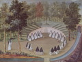 Nuns Meeting in Solitude, from 'L'Abbaye de Port-Royal', c.1710 - (after) Cochin, Louise Madelaine