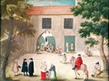 Distributing Alms to the Poor, from 'L'Abbaye de Port-Royal', c.1710 - (after) Cochin, Louise Madelaine