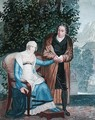 The embarrassed doctor or Doctor with a pregnant young girl, early 19th century - Sebastien Coeure