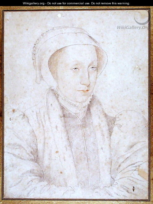 Portrait presumed to be Mary (1542-87) Queen of Scots, 1561 - (studio of) Clouet