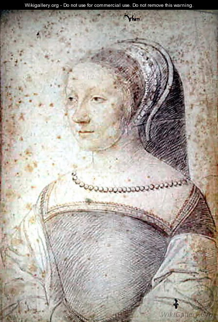 Gilberte (1521-?), daughter of Blaise de Rabutin, seigneur de Huban, c.1538 - (studio of) Clouet