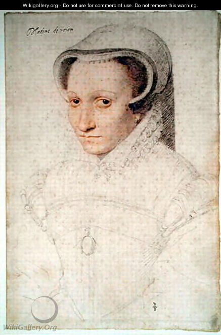 Madeleine de Luxembourg (c.1525-.), wife of Georges de La Tremouille, baron de Royan, c.1563 - (studio of) Clouet