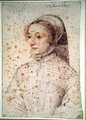 Barbe de Pons (c.1520-c.1590) wife of Jean de Montferrand, Baron de Canjon, c.1551 - (studio of) Clouet