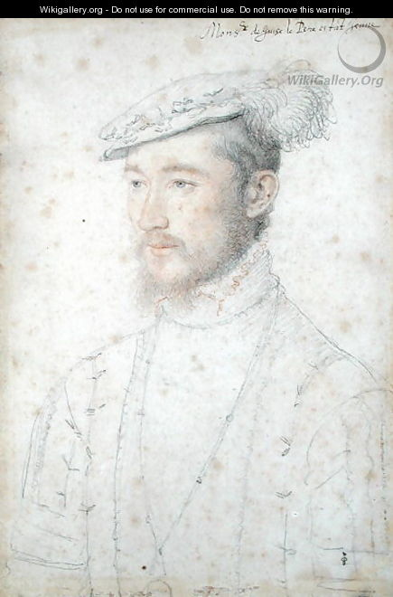 Portrait of Francois of Lorraine (1520-63) 2nd Duke of Guise, c.1550 - (studio of) Clouet
