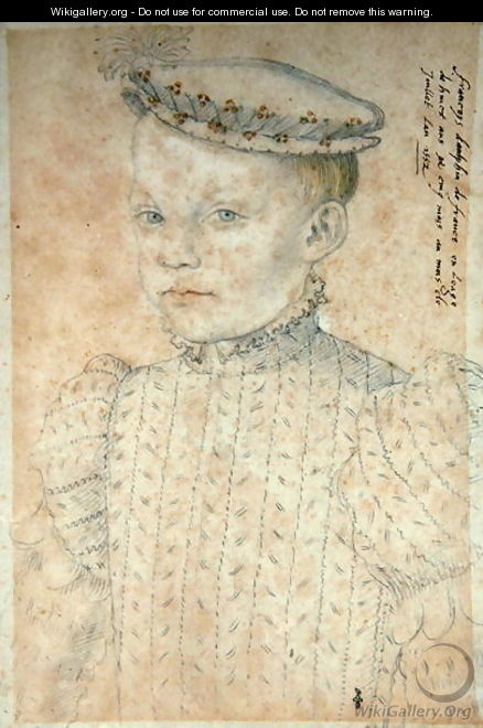 The Dauphin Francois de France (1544-60) future King Francois II, 1552 - (studio of) Clouet