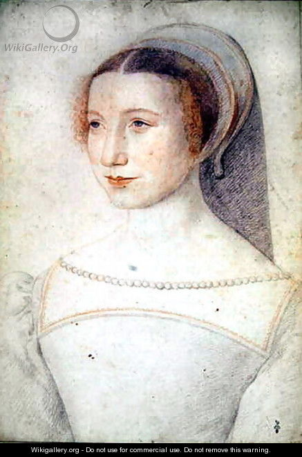 Unknown portrait of a young Lady, c.1540 - (studio of) Clouet